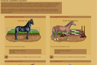 Horzer - Le competizioni equestri